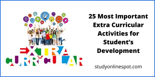 25 Most Important Extra Curricular Activities for Student's Development