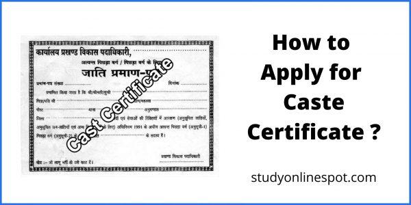 How to Apply for Caste Certificate Online & Offline?