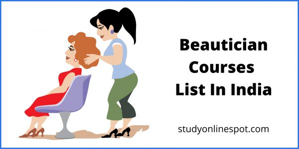 beautician courses list in india