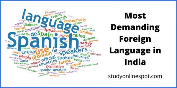 most demanding foreign language in india